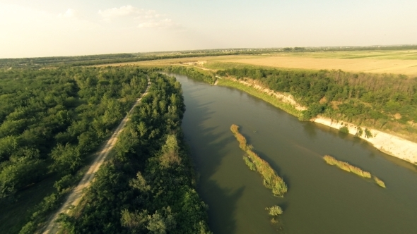 VideoHive Flying Over River 5 5501166