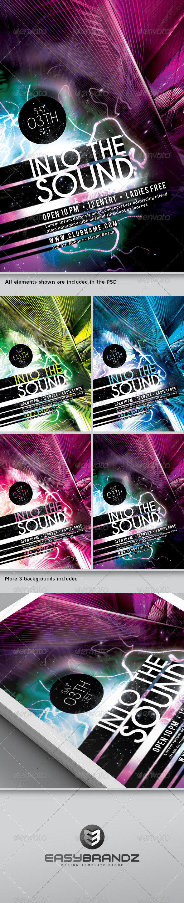Futuristic Flyer Template Vol.02  - Clubs & Parties Events