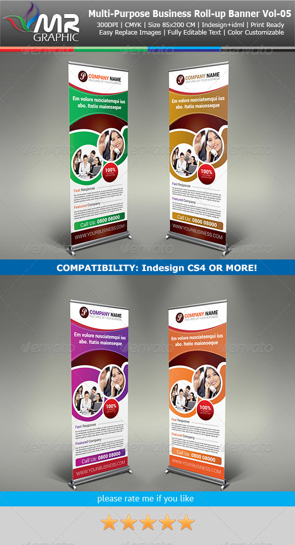 GraphicRiver Multipurpose Business Roll-Up Banner Vol-05 5501333