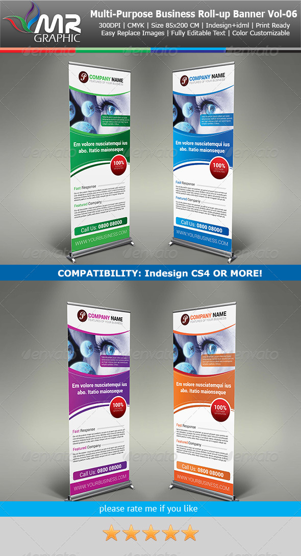 Multipurpose Business Roll-Up Banner Vol-06