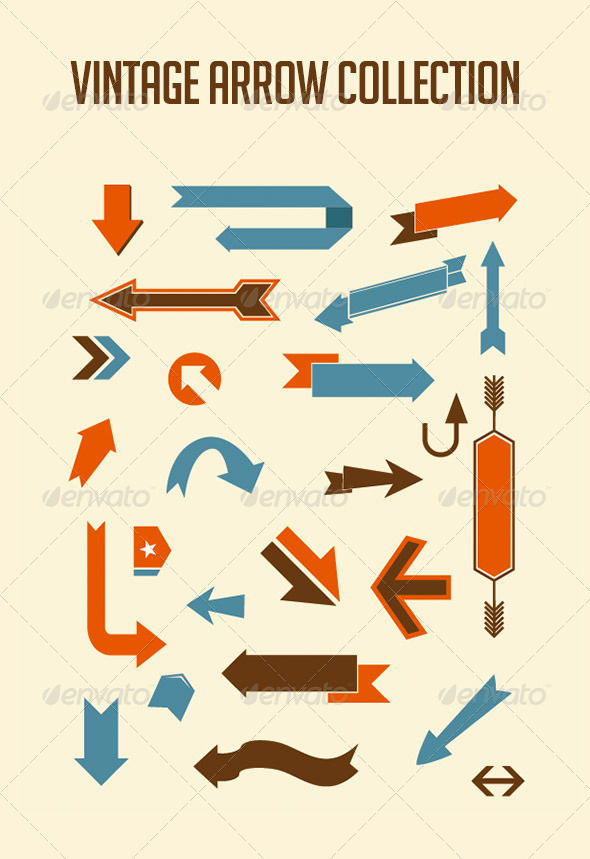 GraphicRiver Vintage Arrow Set 5501425