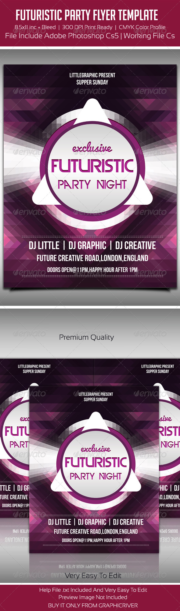 Future Flyer Template 4 - Clubs & Parties Events