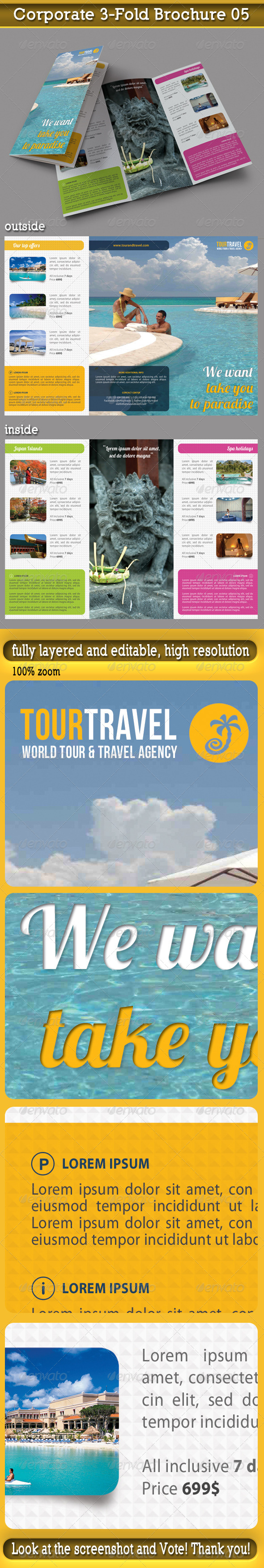 Travel Agency 3-Fold Brochure 03 - Informational Brochures