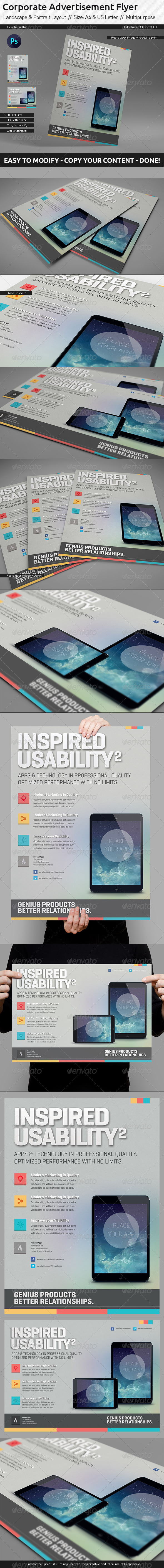 GraphicRiver Corporate Flyer Ad Template US Letter Din A4 5501476