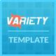 Link toVariety responsive portofolio template
