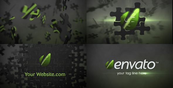 Puzzle Logo Animation Element 3D