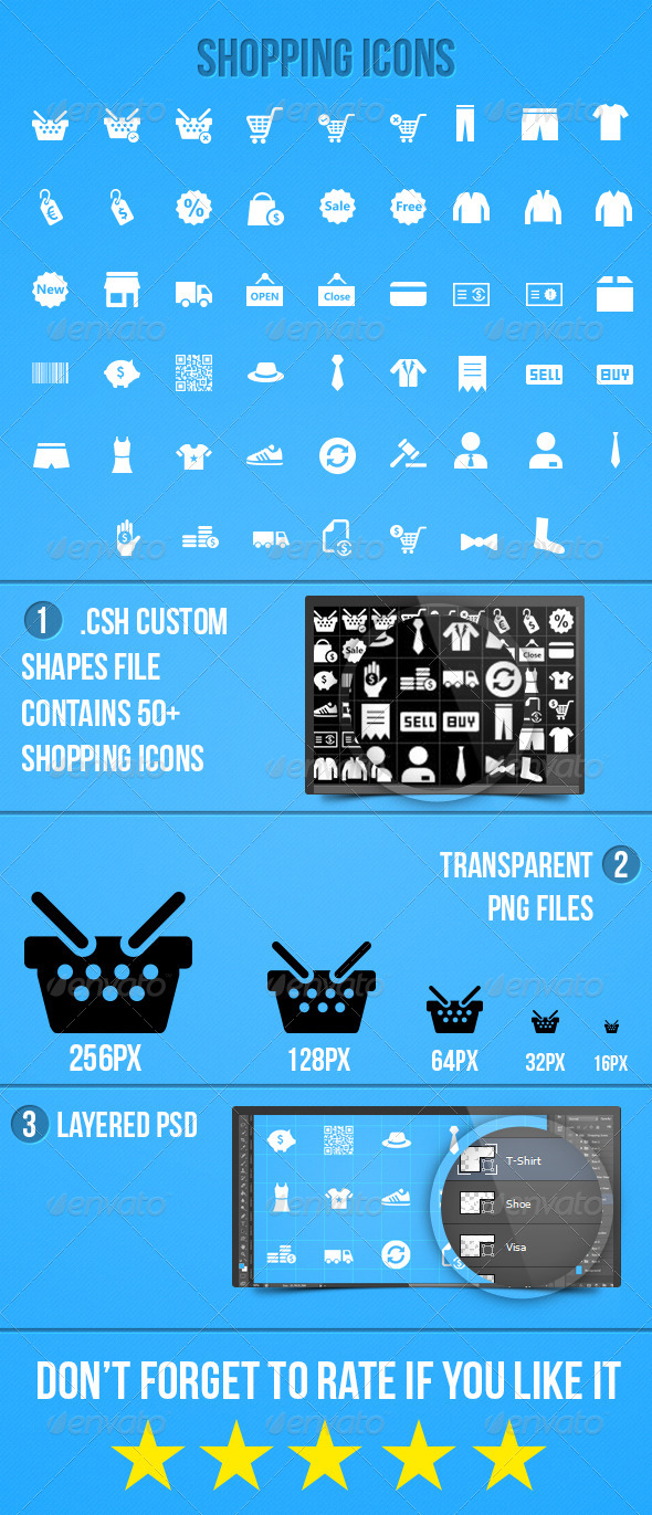 GraphicRiver Shopping Icons 5489156
