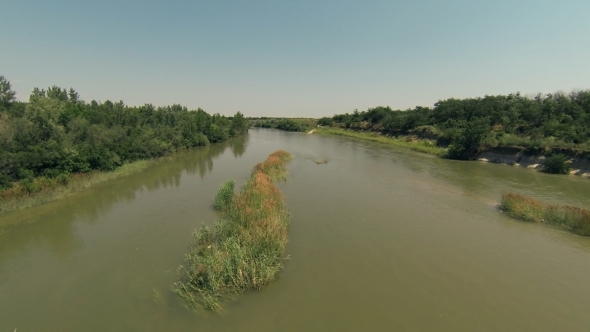 VideoHive Flying Over River 8 5501757