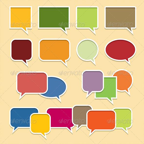 GraphicRiver Colorful Talk Bubble Banners 5501862