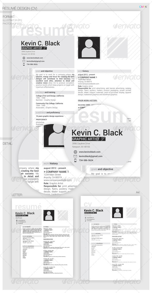 GraphicRiver Clean Resume CV 5485118