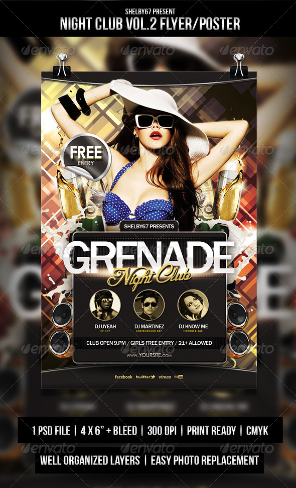 GraphicRiver Night Club Flyer Poster Vol.2 5501981