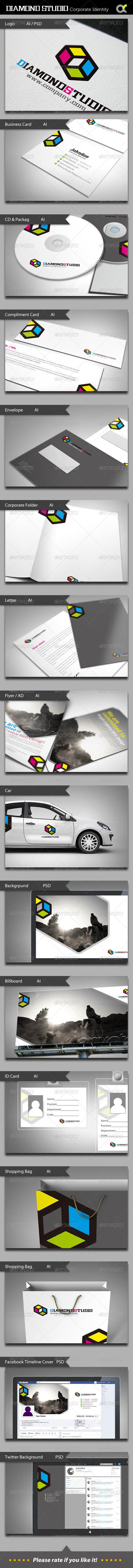 GraphicRiver Diamond Studio Corporate Identity 5455972