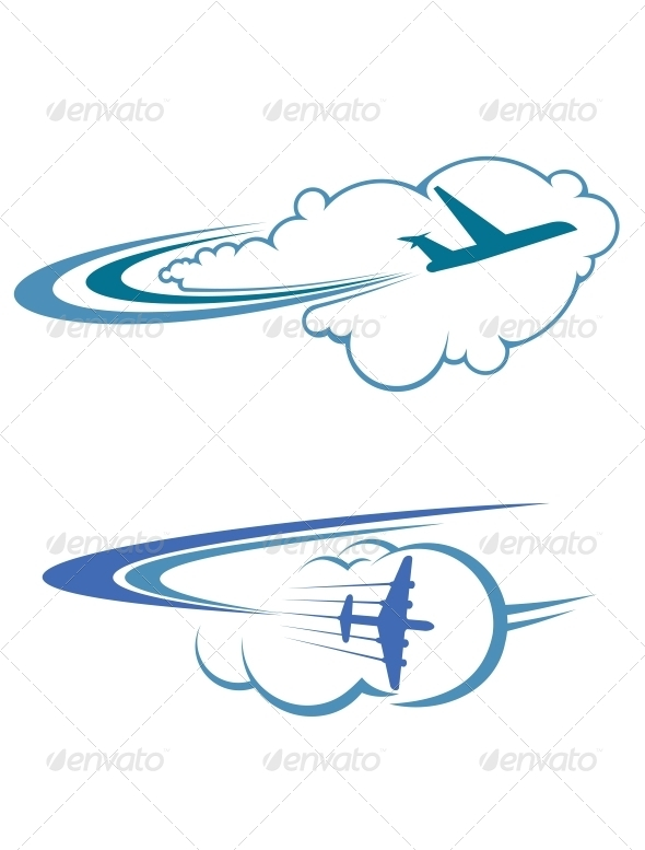 GraphicRiver Flying Airplanes in Sky 5502547