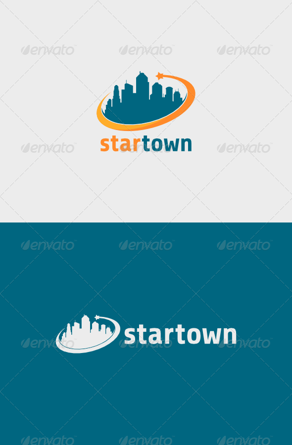 GraphicRiver Star Town Logo 5503077