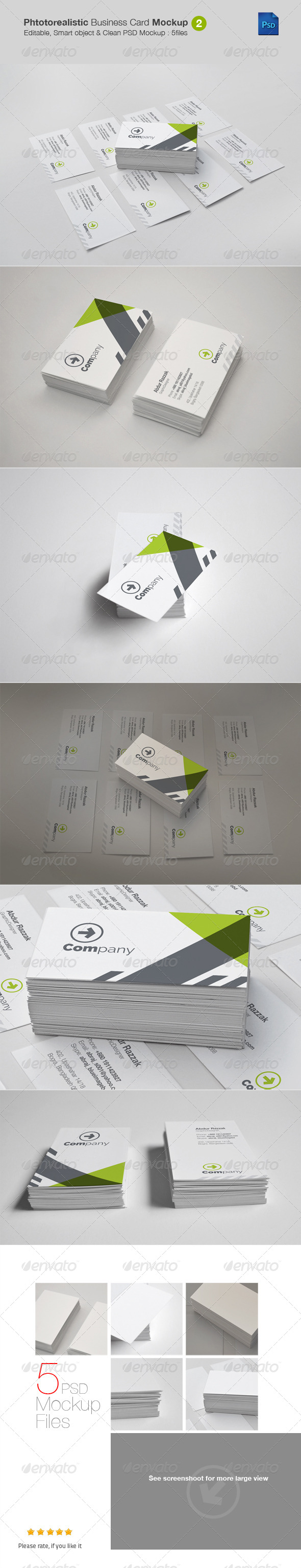 Photorealistic Business Card Mockup v2 - Business Cards Print