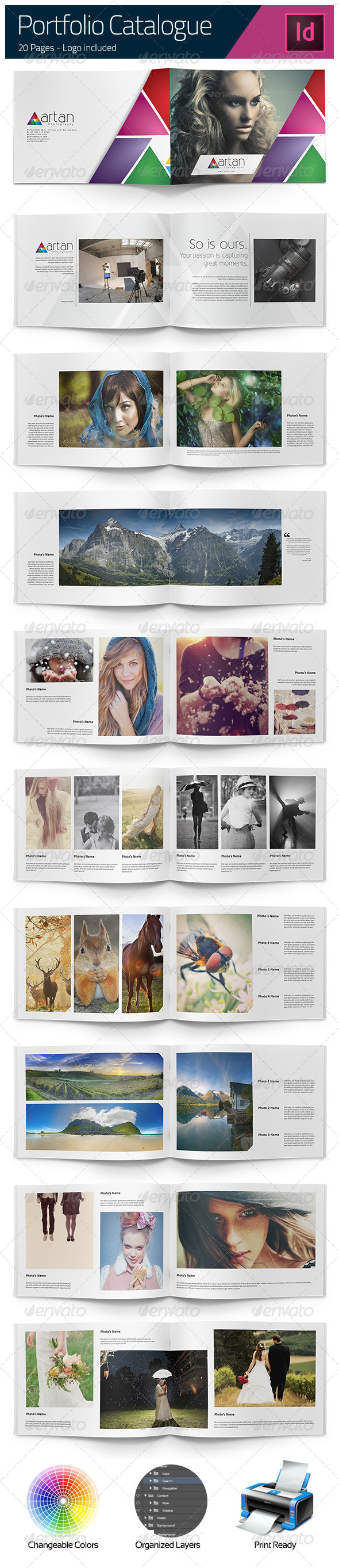 GraphicRiver Photographer Portfolio Catalogue A4 5503156