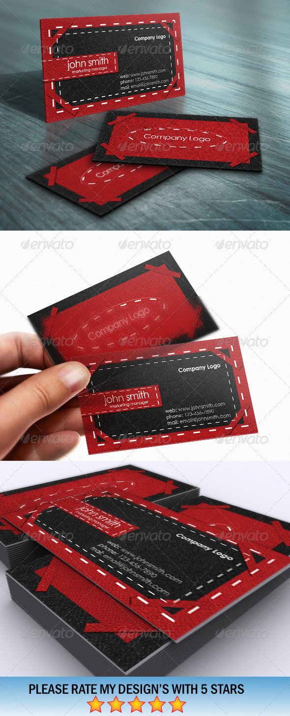 GraphicRiver Red Carpet Fashion Business Card 5485226
