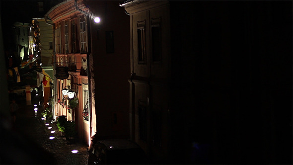 VideoHive Night Rain on Narrow Streets 5503248