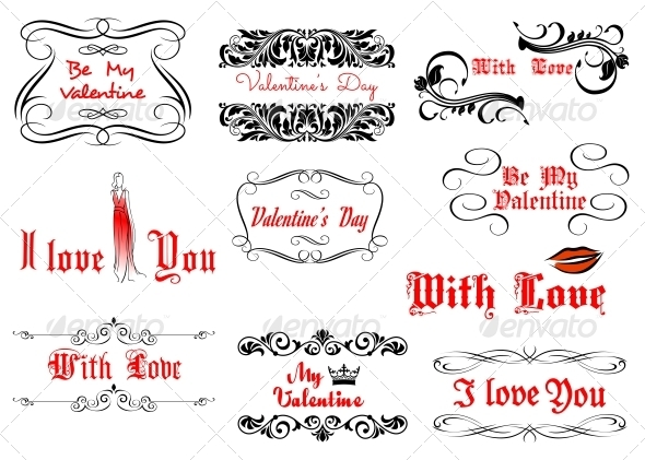 GraphicRiver Love and Valentine s Day Headlines 5503308
