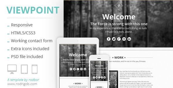 Viewpoint - Responsive portfolio with parallax - Portfolio Creative