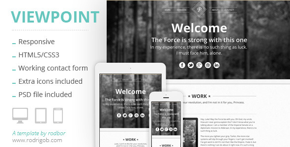 Viewpoint - Responsive portfolio with parallax