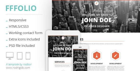 Fffolio - Responsive Portfolio Template - Portfolio Creative