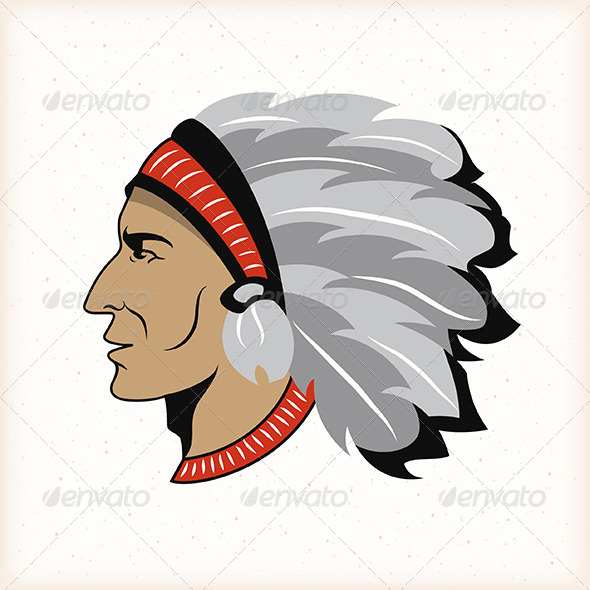 GraphicRiver Indian Head Emblem 5503832