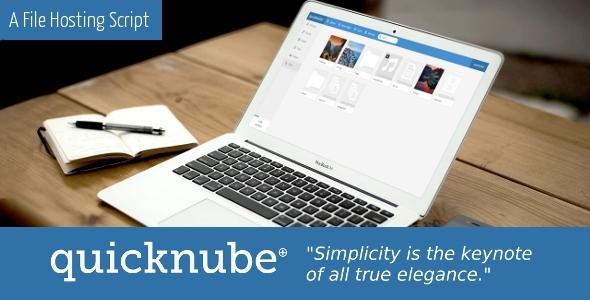 Quicknube – Minimal Design File Hosting Script (Loaders and Uploaders) Download