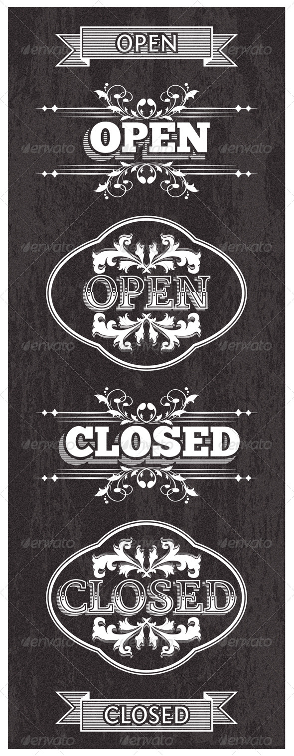 GraphicRiver Open and Closed Signs 5504223