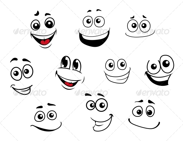 GraphicRiver Cartoon Emotional Faces Set 5504657