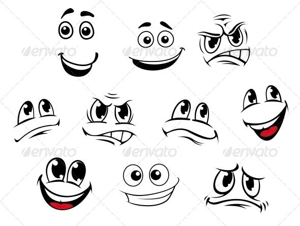 GraphicRiver Cartoon Faces Set 5504694