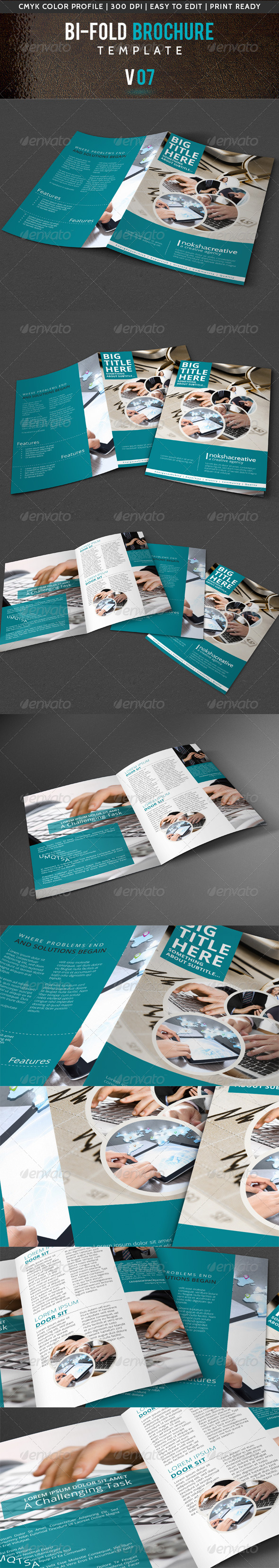 GraphicRiver Corporate Bi-Fold Brochure V-07 5482798