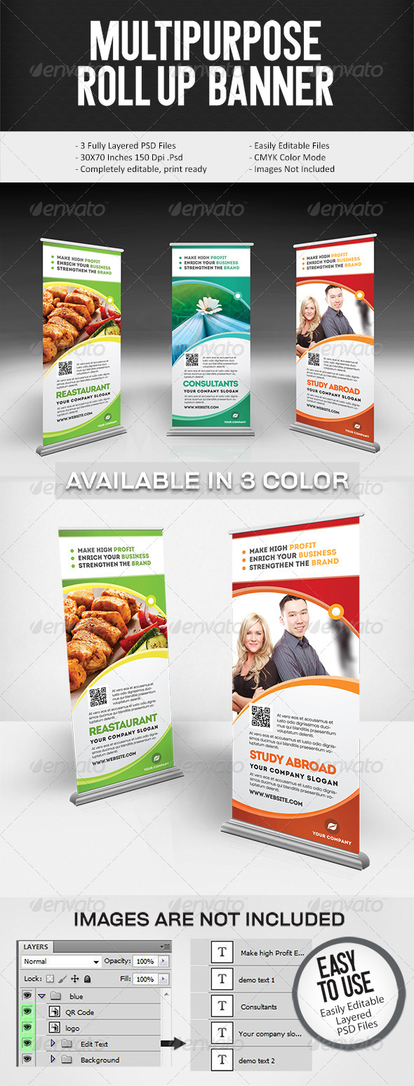 GraphicRiver Multi Purpose Roll-On Signage 5504899