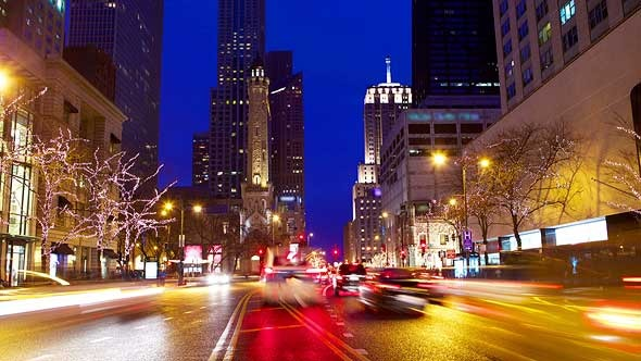 VideoHive Magnificent Mile Traffic 5504956