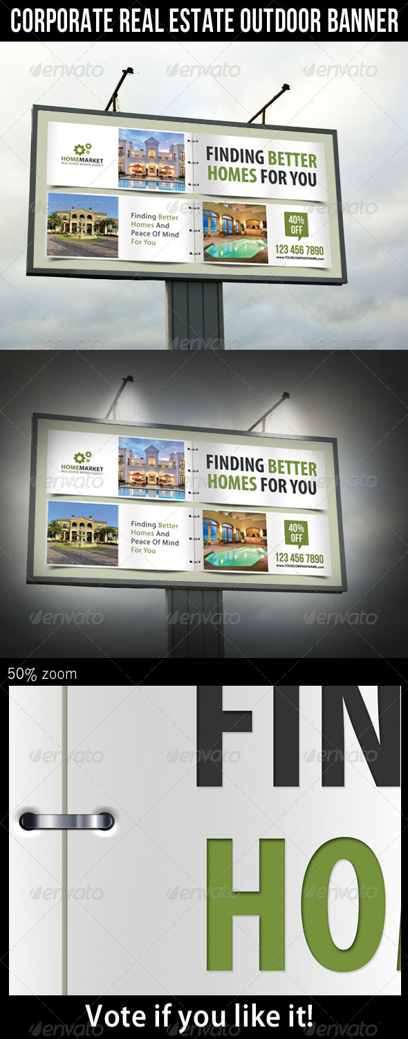 Corporate Real Estate Outdoor Banner 01 - Signage Print Templates