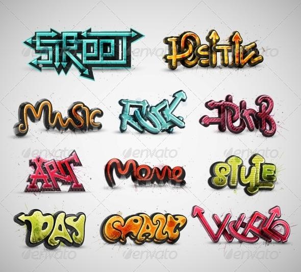 GraphicRiver Set of Graffiti 5504988