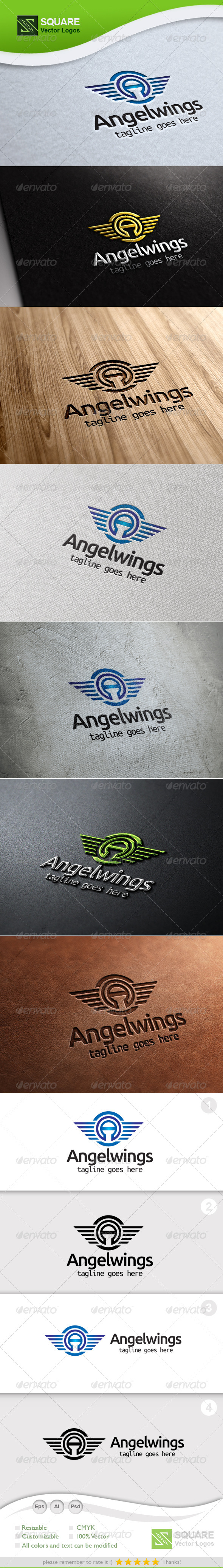 GraphicRiver A Letter Wings Vector Logo Template 5505073