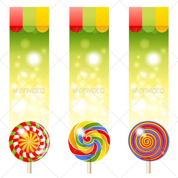 GraphicRiver Banners With Lollipops 5505113