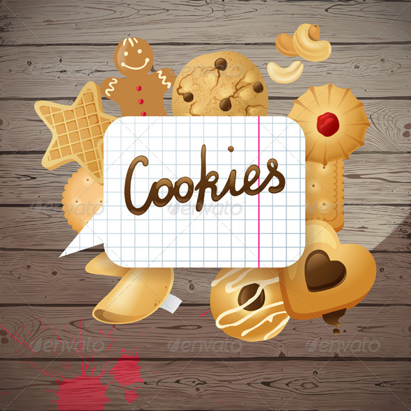 GraphicRiver Background with Cookies 5505149