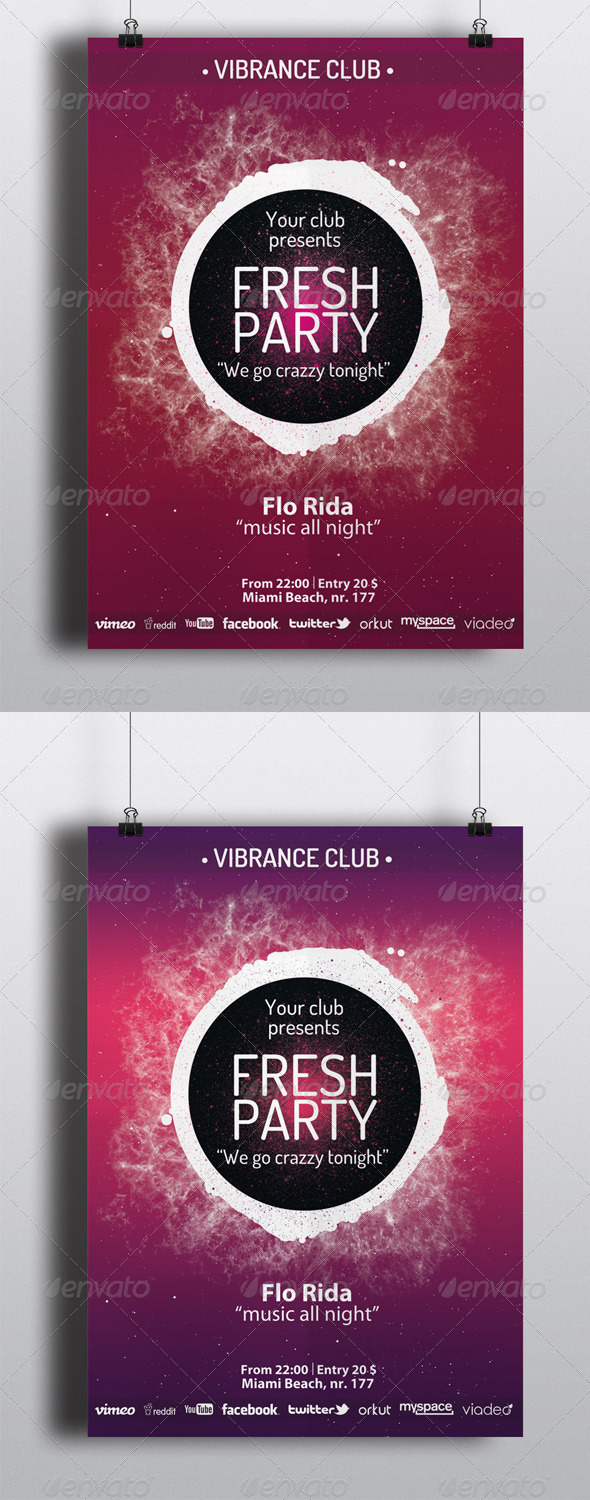 GraphicRiver Fresh Party Flyers 5505160