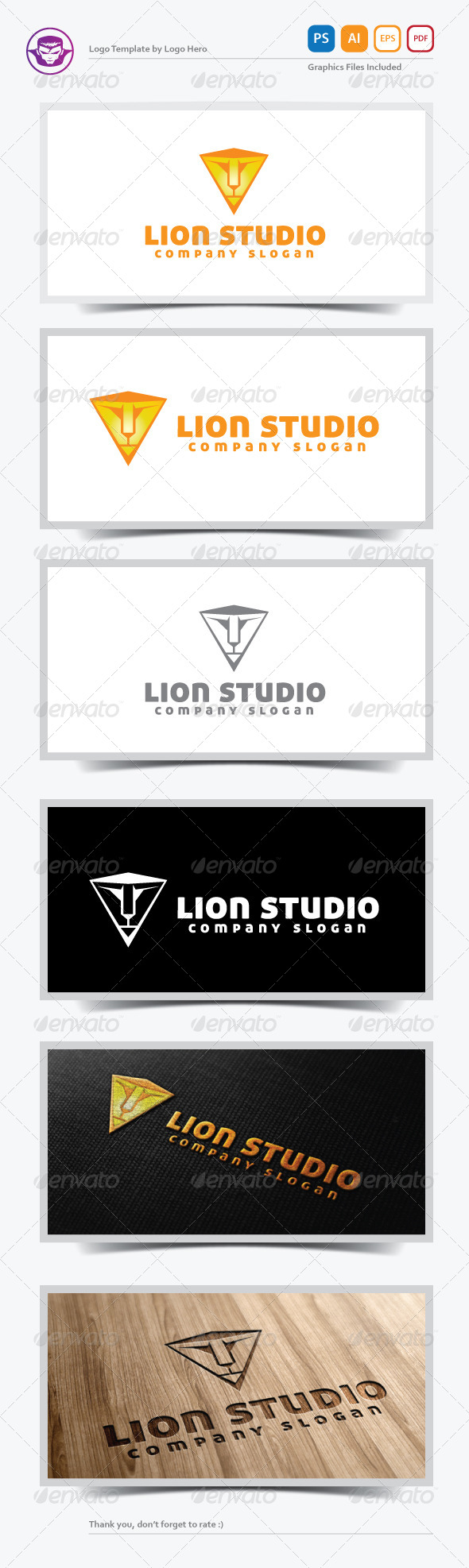 GraphicRiver Lion Studio Logo Template 5505283