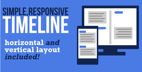 Simple Responsive Timeline Template