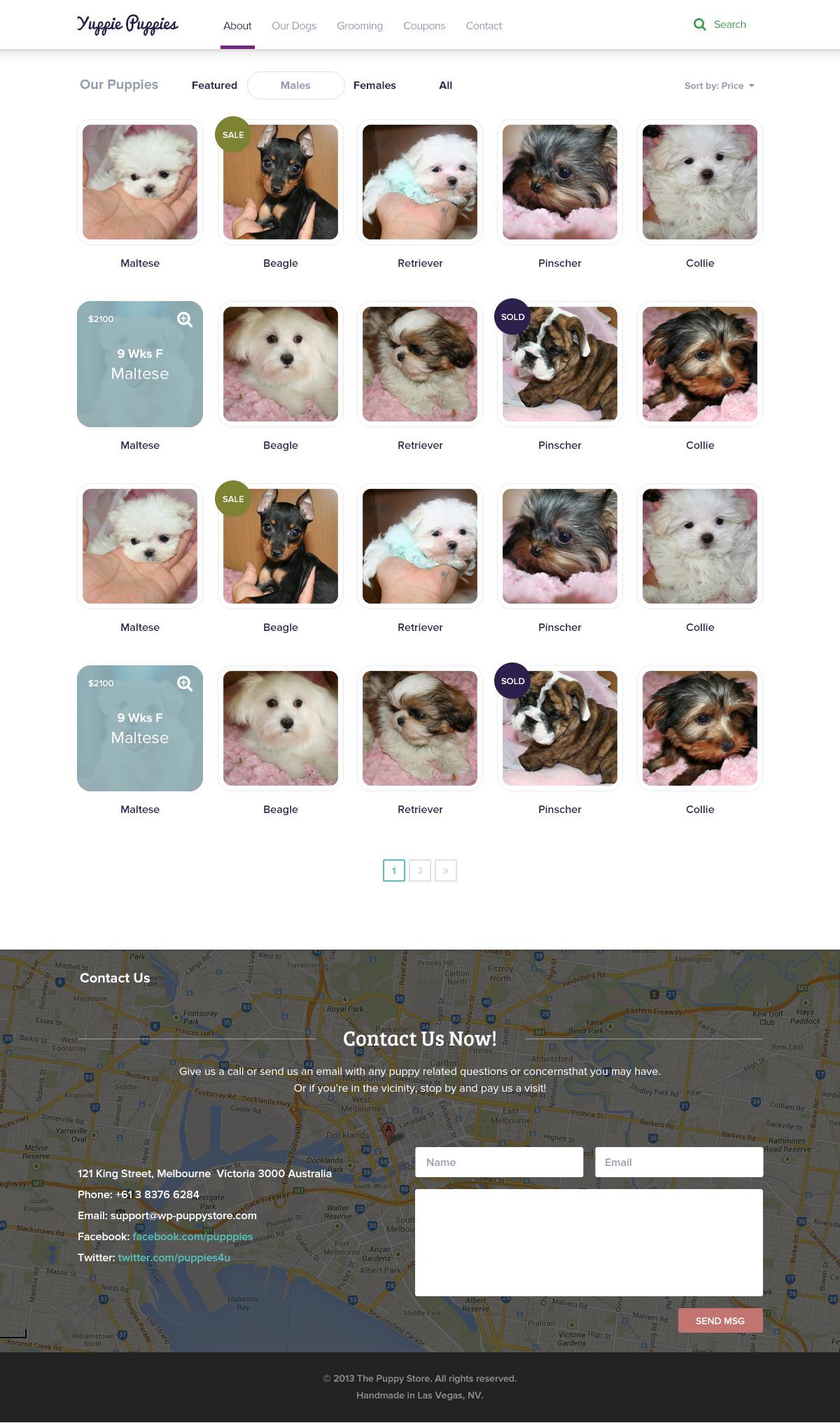 Pet Shop - Flat PSD Theme