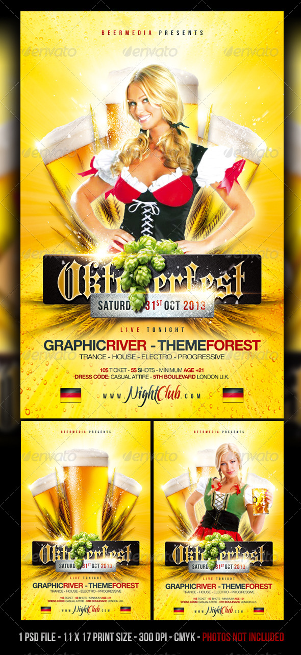 GraphicRiver Oktoberfest Beer Festival Flyer Poster 5506610