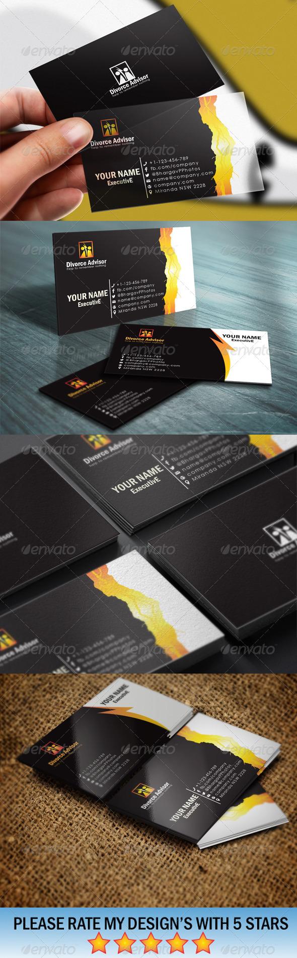 GraphicRiver Divorce Advisory Business Card Templates 5487258