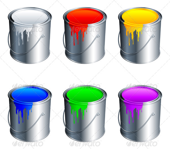 GraphicRiver Paint Buckets 5506876