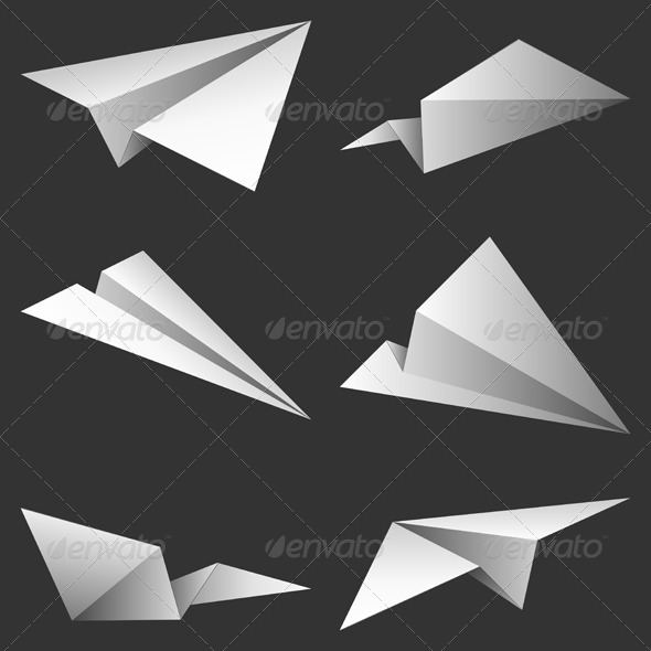 Paper Airplanes - Travel Conceptual