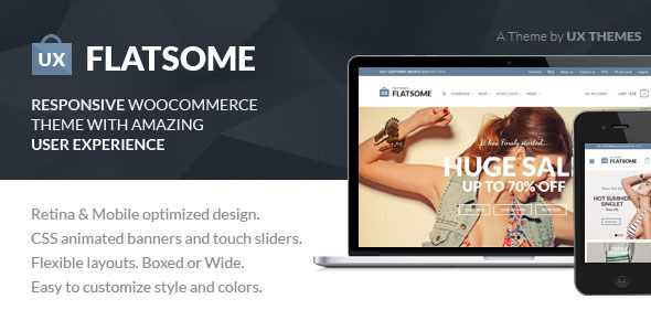 ThemeForest Flat Responsive WooCommerce Theme 5484319