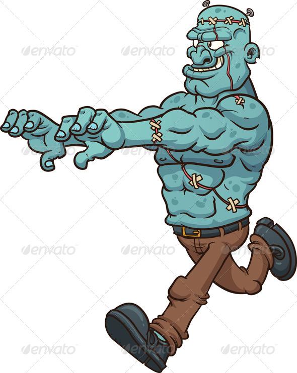 GraphicRiver Running Frankenstein Monster 5506901