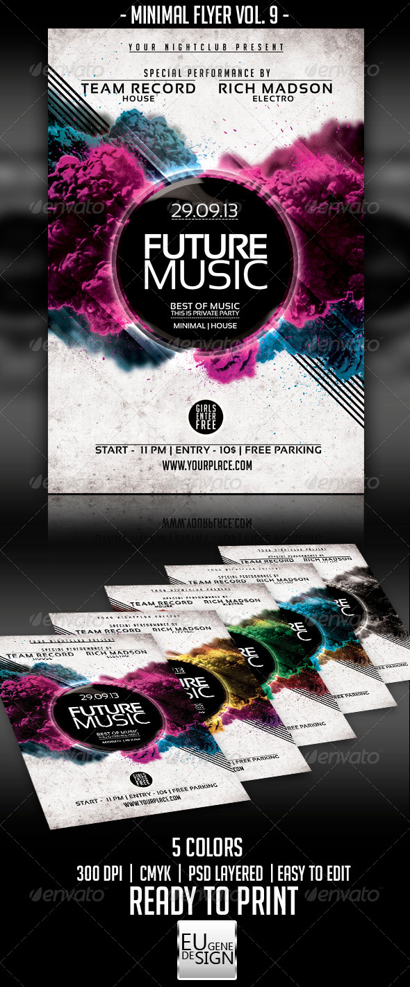 Minimal Flyer Vol. 9 - Clubs & Parties Events